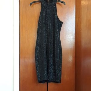 Parker black evening sequence dress size 12